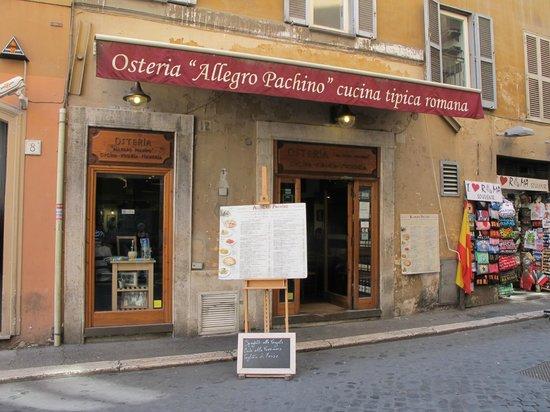 Osteria Allegro Pachino : Enseigne