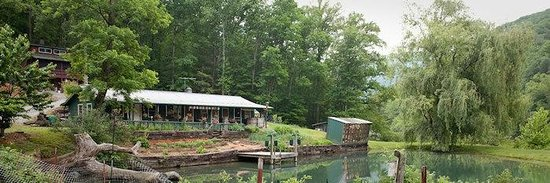 Nolichucky Gorge Campground: Pond and Woodturning Shop
