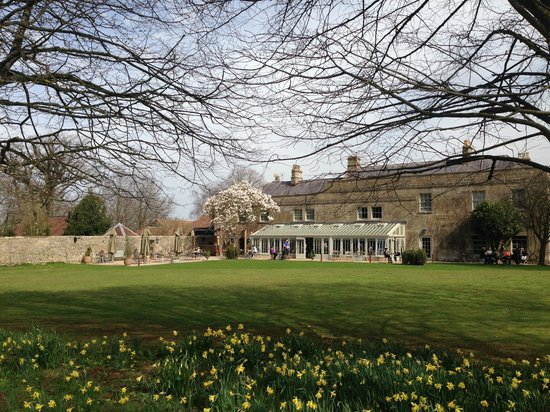 The Pig near Bath: Lawn and Dining conservatory