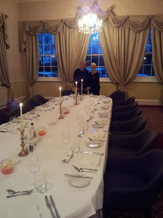 The Elms: The Golden Couple in our private dining room