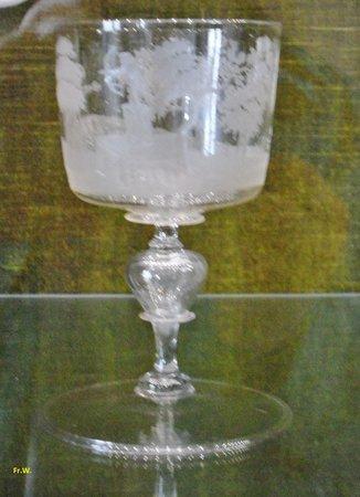 Musée du Verre et Cristal : Zuiver geslepen glazen .