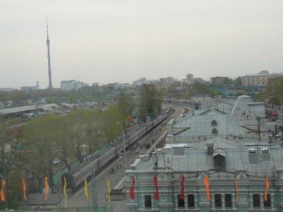 Holiday Inn Moscow Suschevsky: Vue sur la gare, à visiter