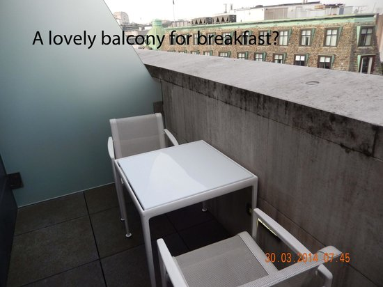 ME London: Grimy balcony with lovely concrete