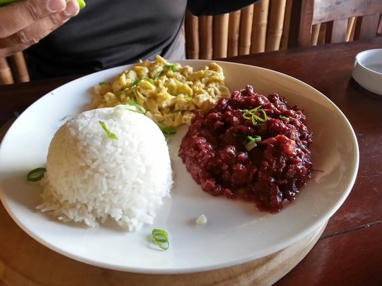 The Pleasure Principle Resto-Bar: The Pinoy. Corned beef and scrambled eggs served with rice. My husband's absolute favourite!