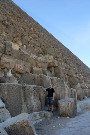 Cheops-Pyramide: The Great Pyramid of Cheops.