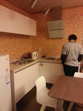 Jejueco Suites: Kitchen