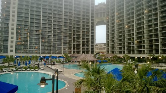 North Beach Plantation: view of resort and pools from the beach