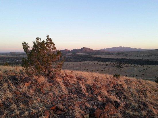 Santa Fe Mountain Adventures: Atop the mountain for the sunset