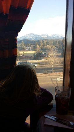 Fiesta Mexicana Family Restaurant: The view of the mountains from our table