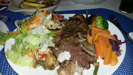 The Blue Sky: T bone steak from blue sky there is only one third left when the picture was taken you also get