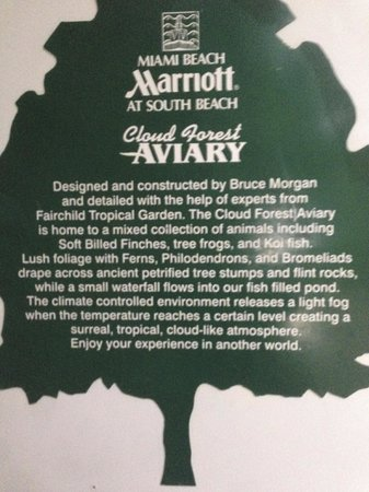 Marriott Stanton South Beach: Onsite Aviary