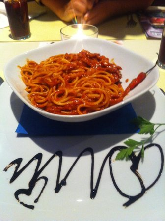 Bakers Bar: spaghetti Arrabiata