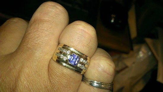 Shopper's Haven: My tanzenite and diamond ring