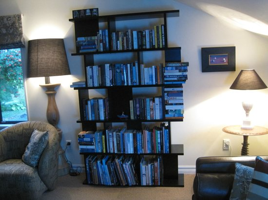 Lake Tekapo Lodge: Bookcase in Lounge