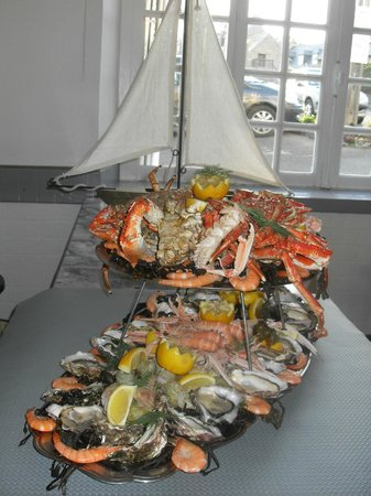 Hotel Restaurant Bocher : PLATEAU DE FRUITS DE MER UN REGAL
