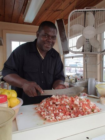 Da Conch Man : Big Daddy Brown and his Conch Salad.