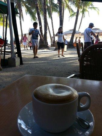 Cafe del Sol Boracay: cappuccino view :-)