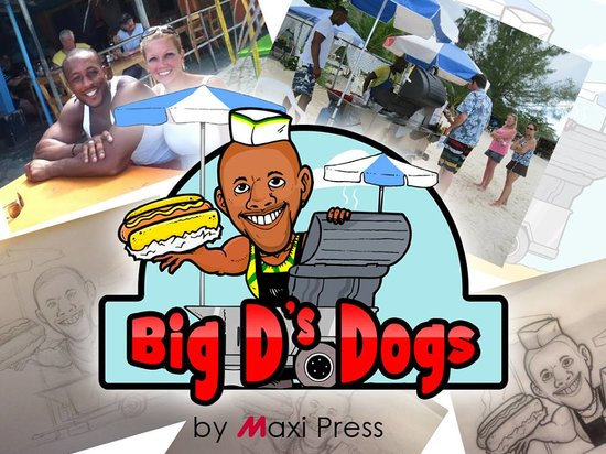 Big D's Dogs: Big D's on the beach - Negril
