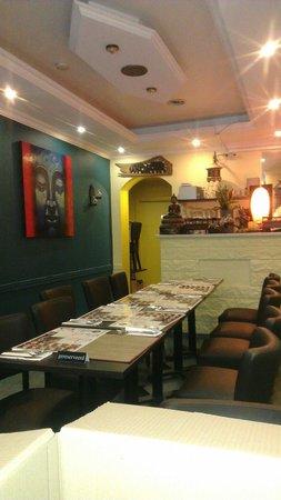 Thailand House: Het kleine restaurant.