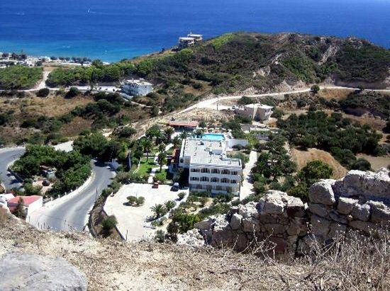 top view on  Anthoula hotel
