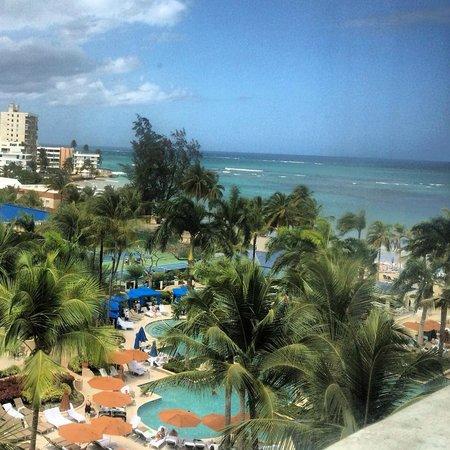 The Ritz-Carlton, San Juan : Pool and Beach looking toward El San Juan