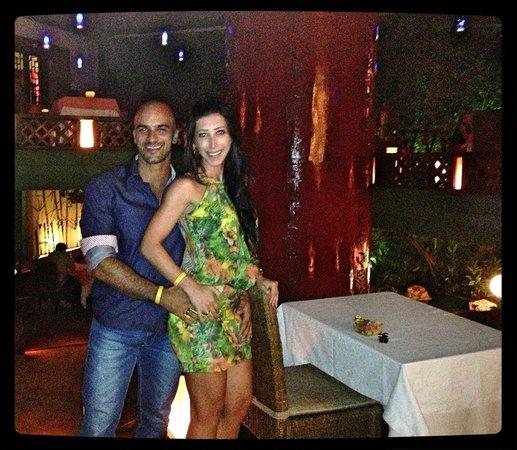 Grand Park Royal Cancun Caribe: Jantar de noivado no restaurante Oriental.. com o carinho da Guadalupe.