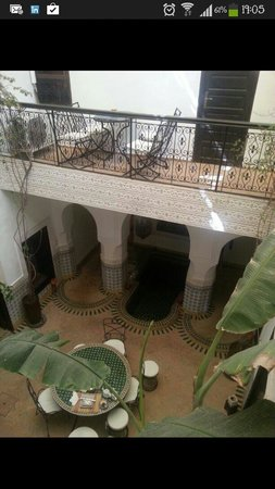 Riad Al Mamoune : View from the inside balcony by my room