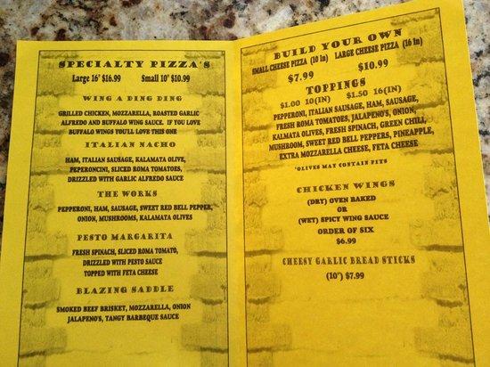Dalhart, TX: menu
