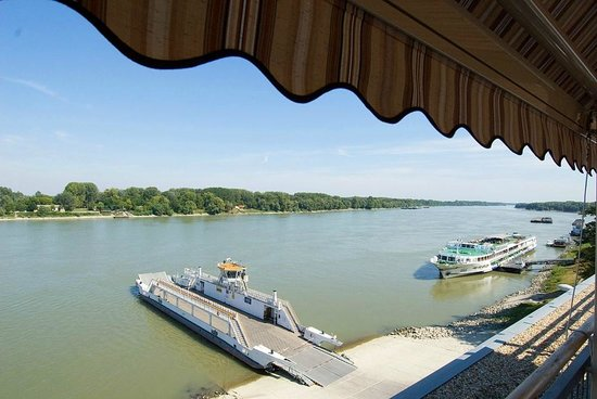 Szent Janos Hotel: Danube view from grill terrace