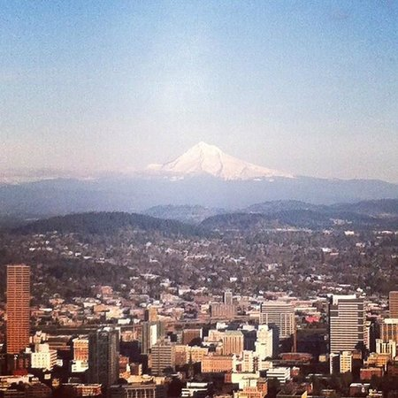 Mt. Hood in the distance (taken from Pittock Mansion)