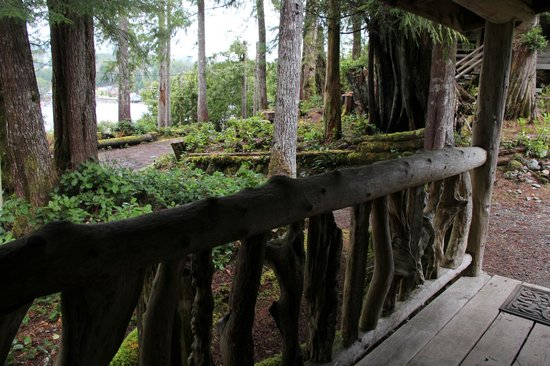 Cottages at Woods End Landing in Bamfield: Peace full Setting - cabin deck
