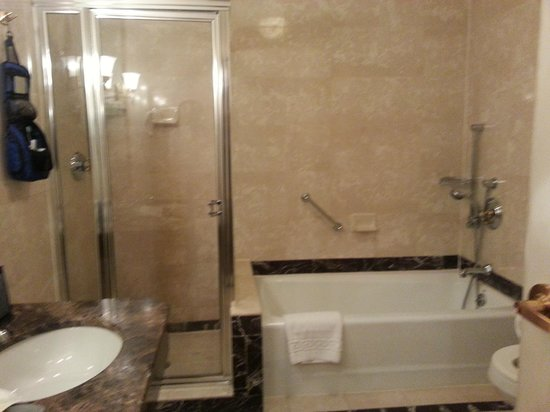 Avalon Hotel: Separate shower & tub