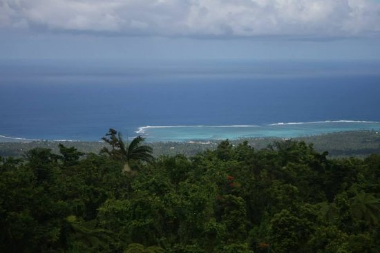 Lupe Sina Treesort : View from Samson to the south coast