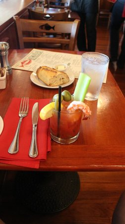 The Fish Market : Fish Market Bloody Mary is nearly a meal