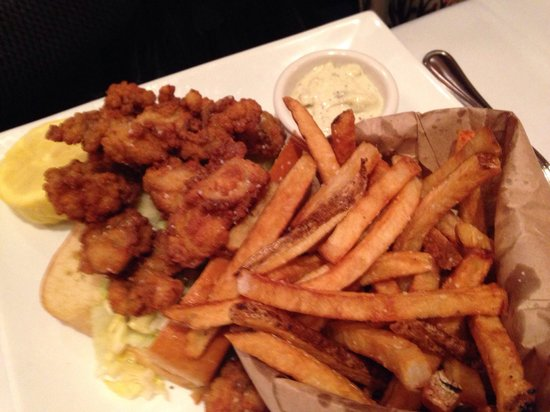 Atlantic Fish Company: Fried oyster sandwich.  Perfectly breaded and fried.