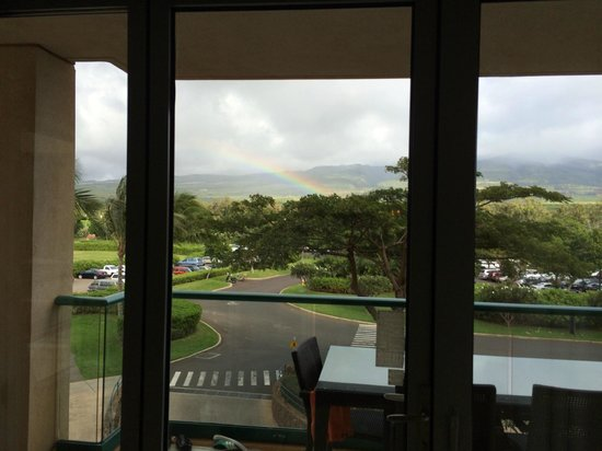 Honua Kai Resort & Spa : Rainbow view out of our room