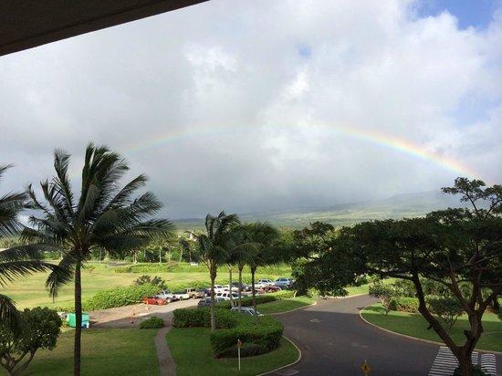 Honua Kai Resort & Spa : Rainbow off our lanai- 3rd floor resort view