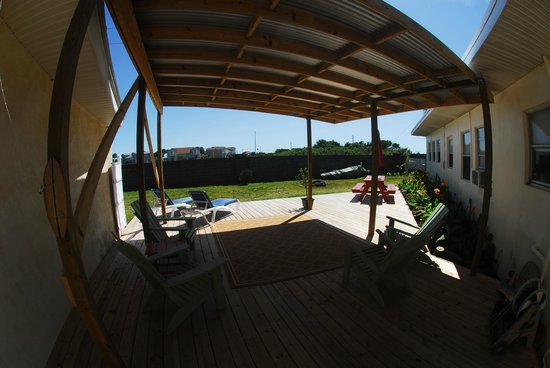Banana River Resort: Our Sun/Shade deck great for yoga and info-boarding!