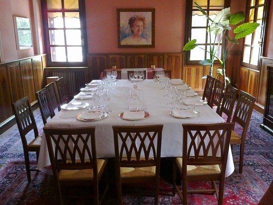 Charming Hotel Villa Soranzo Conestabile: Saletta ristorante.