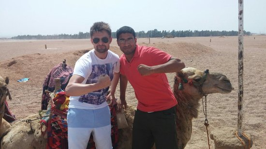 Sinai Safari Adventures : Ahmed on the right accompanied us in the desert on the camel trip