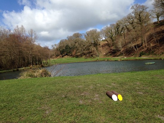 St. Mellion Golf Club: A good drive will only just clear this water for most.