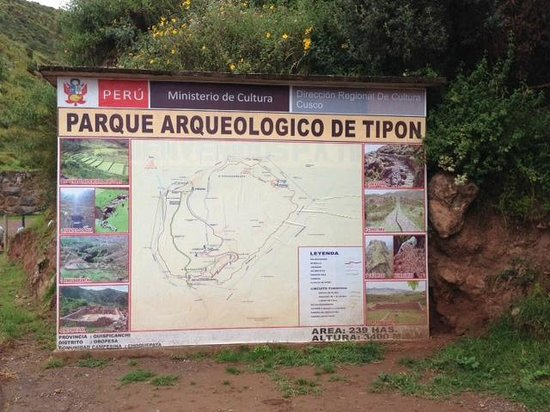 Tipón: Map of Tipon