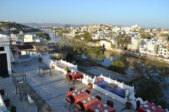 Karohi Haveli: vue depuis le toit terrasse
