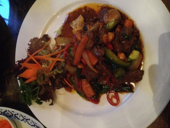 Thai Pad: The beef dish I had