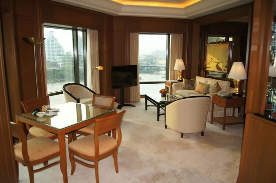 The Peninsula Bangkok: Our lounge area