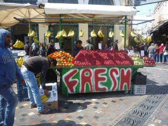 Monastiraki: Fruit stall in Monastraki Square.