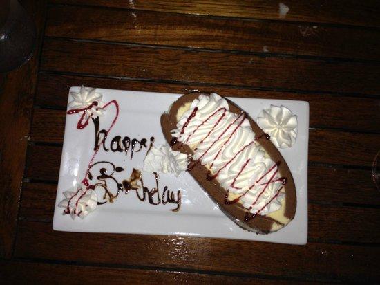 Riverhouse Reef & Grill: Birthday Dessert