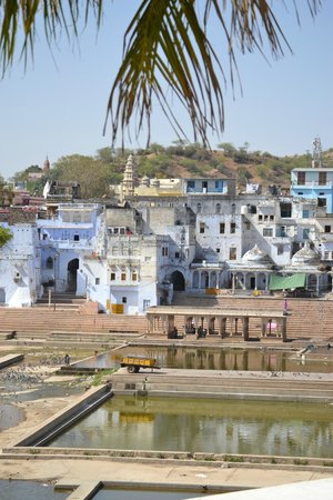 Hotel Pushkar Palace: Les ghats depuis la chambre