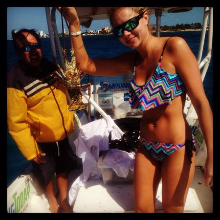 Spearfishing Today: Lobster that our guide speared for us!
