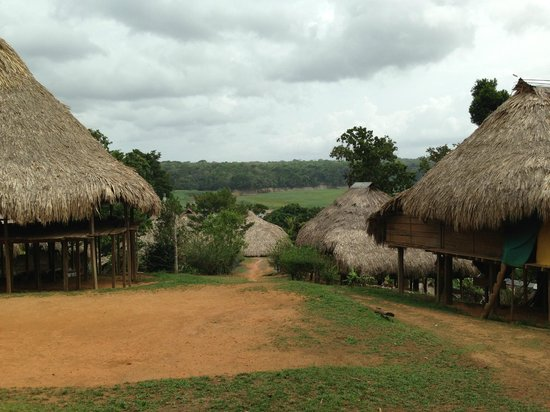 Adventures Panama: View of the huts